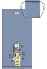 Woody Handdoek, lichtblauw