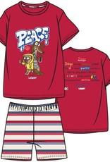 Woody Jongens-Heren pyjama, felrood
