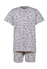 Woody Meisjes-Dames pyjama, gebroken wit met hond
