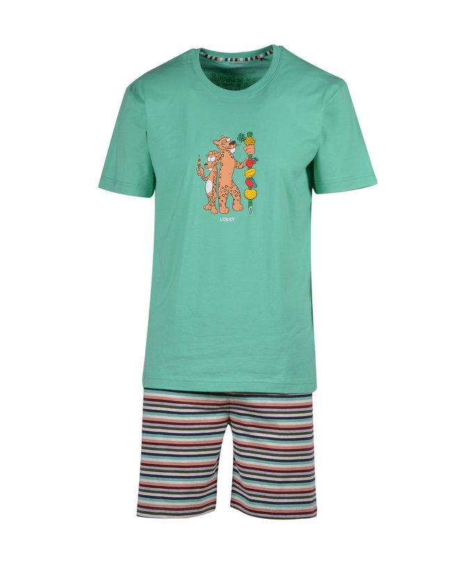 Woody Jongens-Heren pyjama, jadegroen