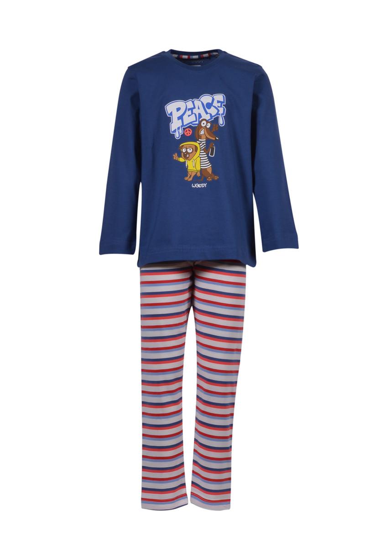 Woody Jongens-Heren pyjama, Marineblauw