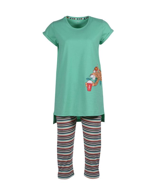 Woody Meisjes-Dames pyjama, jadegroen
