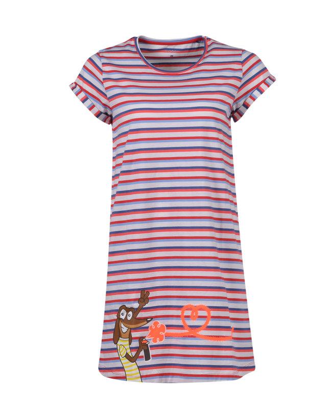 Woody Slaapkleed, rood-blauw gestreept