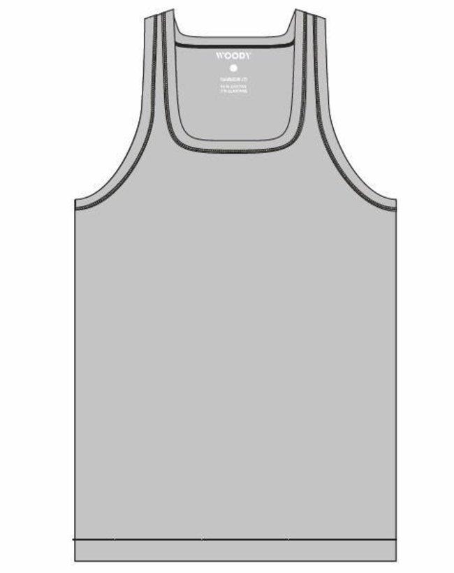 Heren singlet - single pack, grijs melange