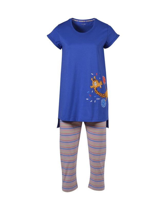 Woody Meisjes-Dames pyjama, koningsblauw