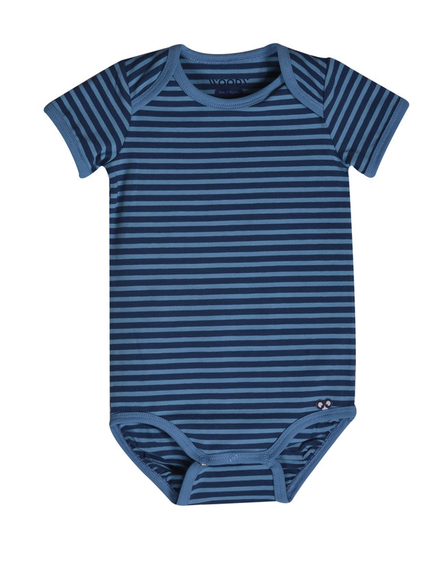 Woody Body, donkerblauw-blauw gestreept