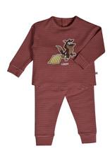 Woody Meisjes pyjama, oudroze-bordeaux gestreept