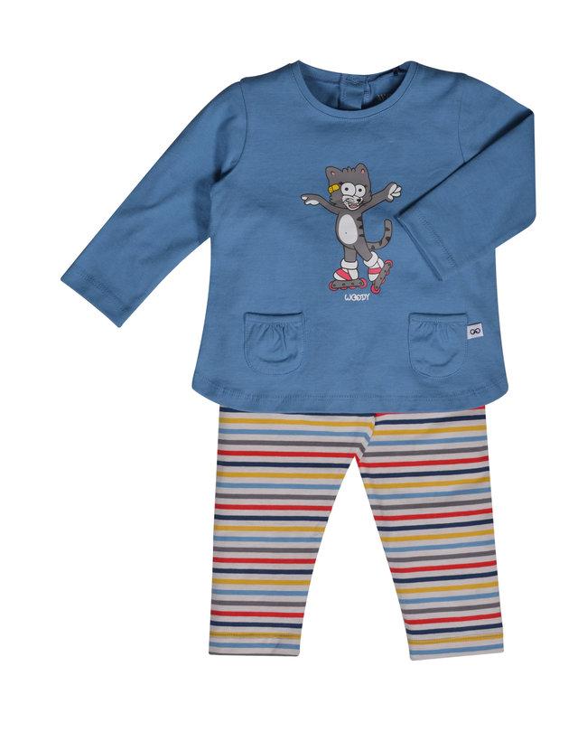 Woody Meisjes pyjama, blauw