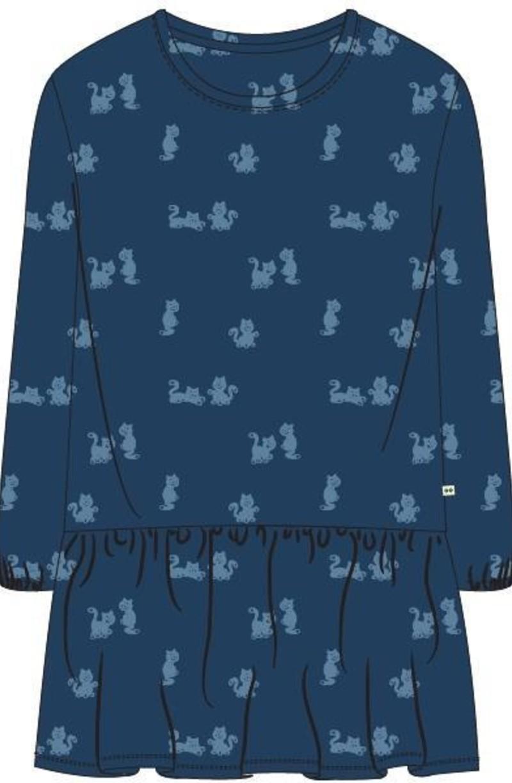 Woody Slaapkleed, blauw met kat