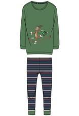 Woody Meisjes-Dames pyjama, woudgroen