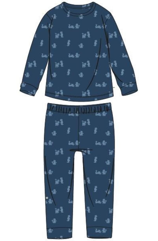 Woody Jongens pyjama, blauw met kat