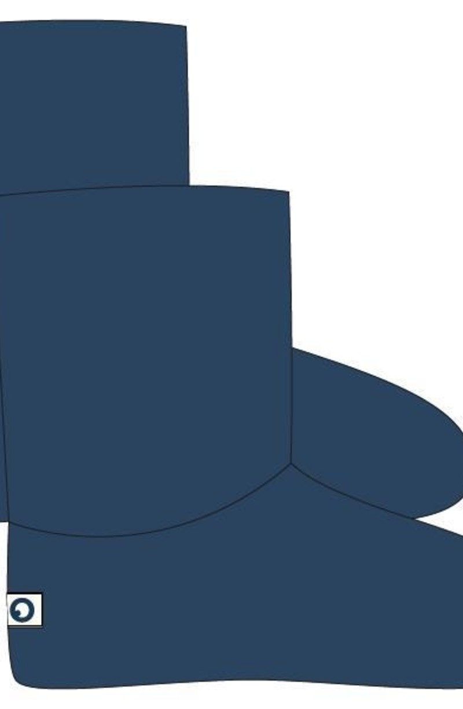 Woody Pantoffels, petrolblauw