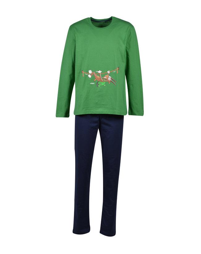 Woody Jongens-Heren pyjama, woudgroen
