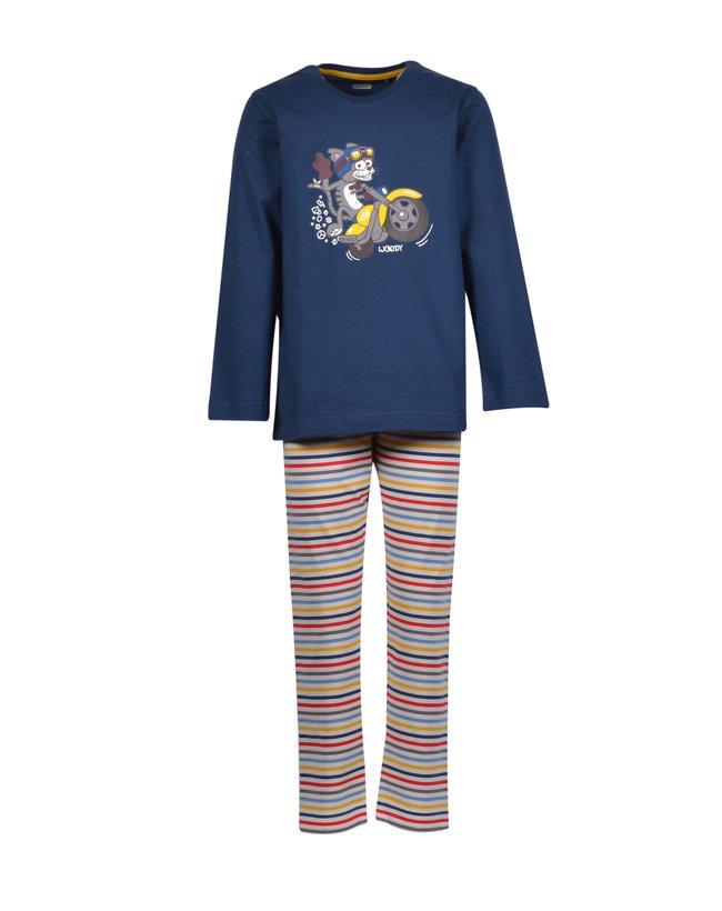 Woody Jongens-Heren pyjama, petrolblauw