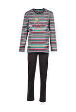 Woody Jongens-Heren pyjama, multicolor gestreept