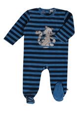 Woody Romper, donkerblauw-blauw