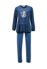 Woody Meisjes-Dames pyjama, donkerblauw-blauw