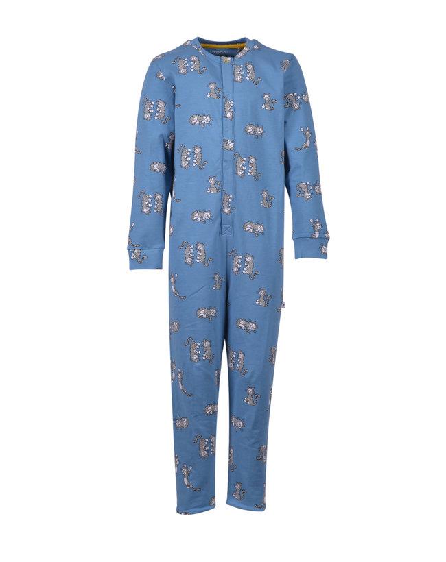 Woody Unisex onesie, blauw met kat