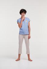Woody Dames pyjama, blauw