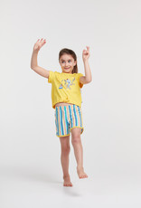 Woody Meisjes-Dames pyjama, geel