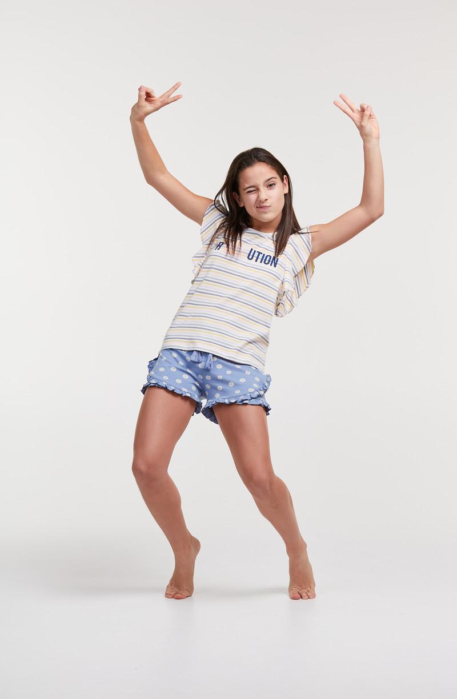 Woody Meisjes-Dames pyjama, multicolor