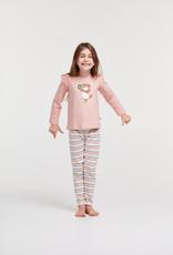 Woody Meisjes-Dames pyjama, lichtroze
