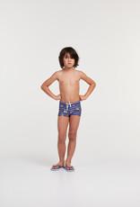 Woody Jongens zwembroek, blauwe strepen cavia