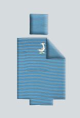 Woody Dekbedovertrek, blauw-gebroken wit gestreept