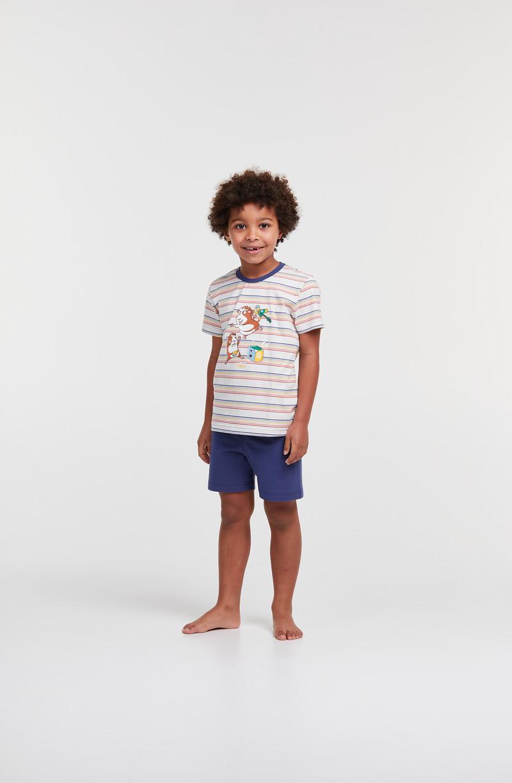 Woody Jongens-Heren pyjama, veelkleurig
