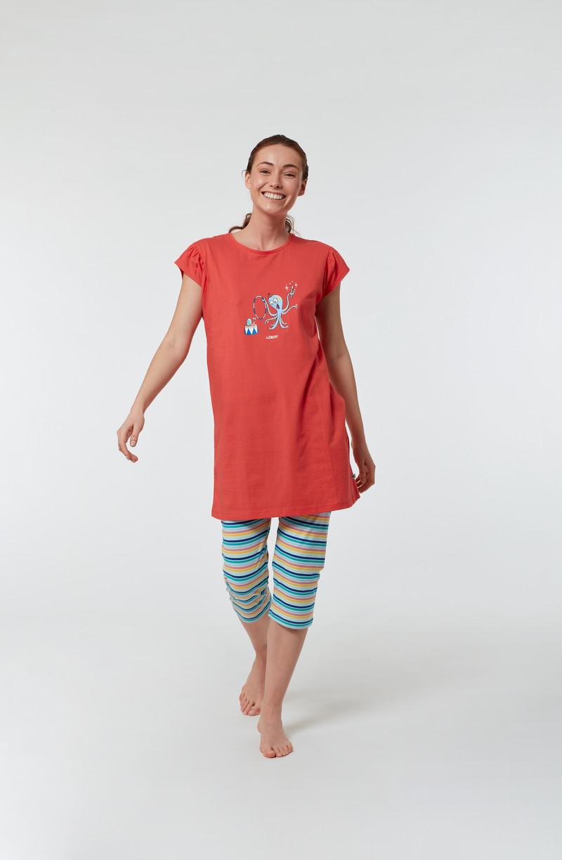 Woody Meisjes-Dames pyjama, fuchsia
