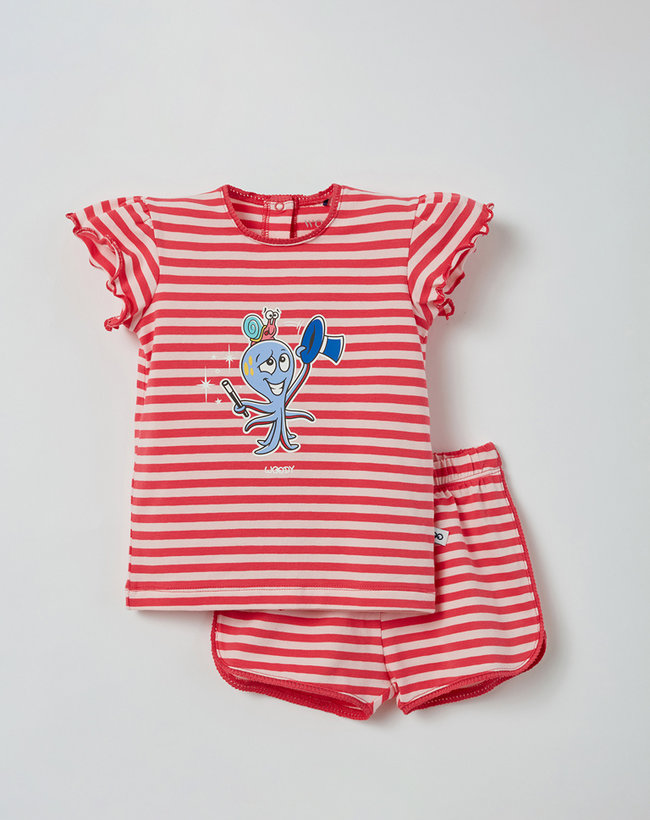 Woody Meisjes pyjama, roze gestreept