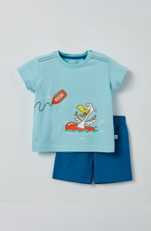Woody Unisex pyjama, lichtblauw