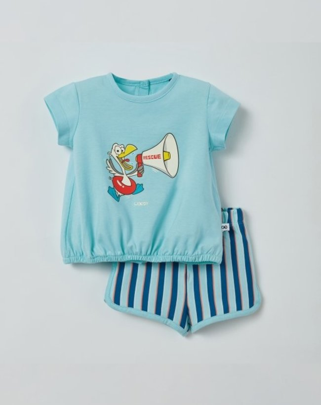 Woody Meisjes pyjama, lichtblauw