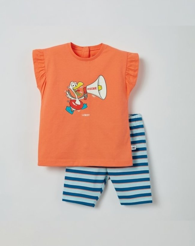 Woody Meisjes pyjama, koraalroze
