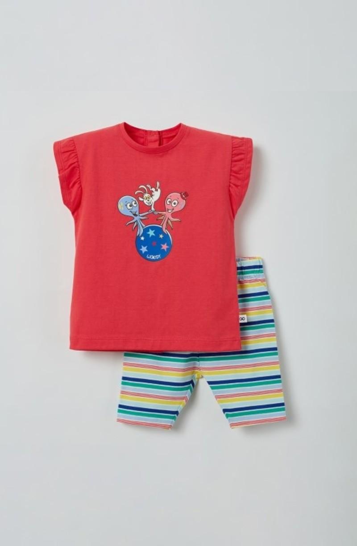Woody Meisjes pyjama, fuchsia