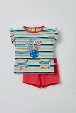Woody Meisjes pyjama, multicolor gestreept