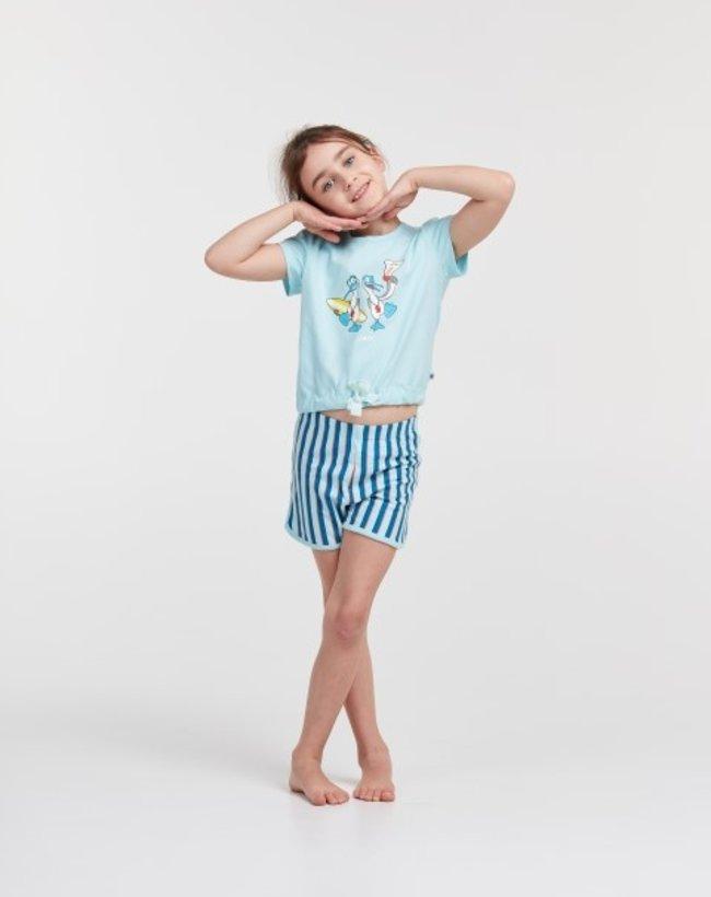 Woody Meisjes-Dames pyjama, lichtblauw