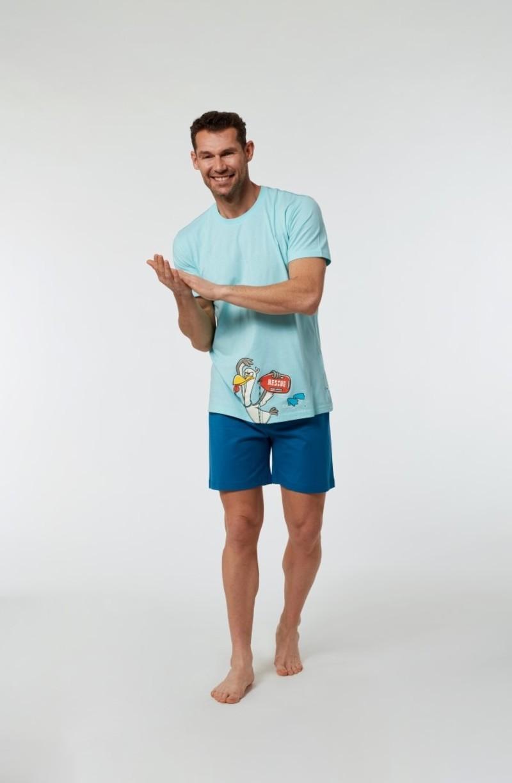 Woody Jongens-Heren pyjama, lichtblauw