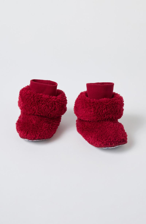 Woody Pantoffels, donker rood