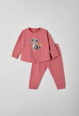 Woody Meisjes pyjama, rood-roze gestreept
