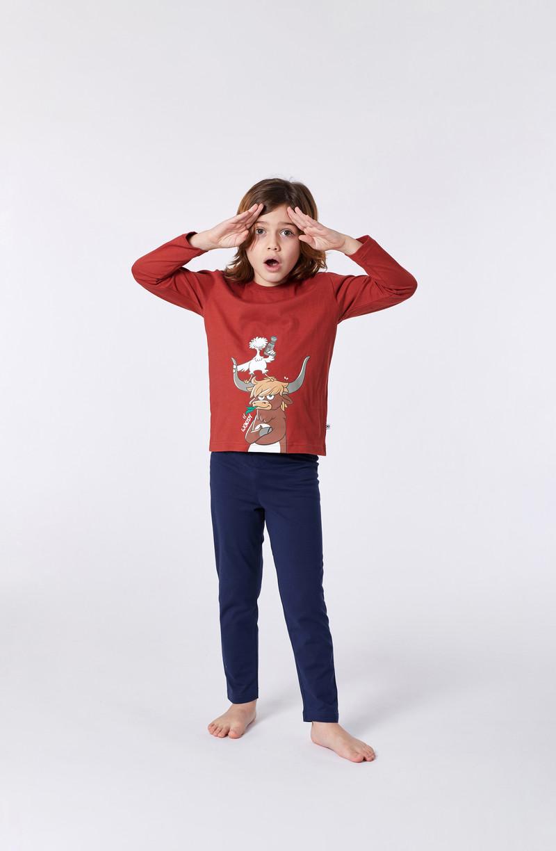 Woody Jongens-Heren pyjama, rood