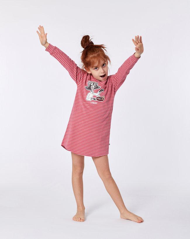 Woody Slaapkleed, rood-roze gestreept