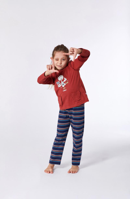 Woody Meisjes-Dames pyjama, rood