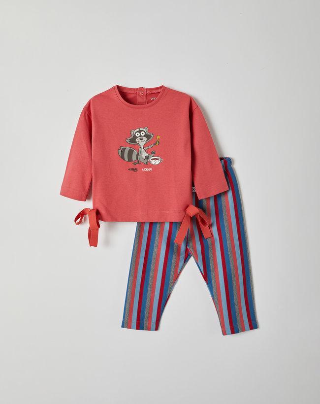 Woody Meisjes pyjama, roze