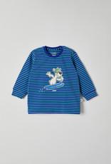 Woody Jongens pyjama, blauw-groen gestreept