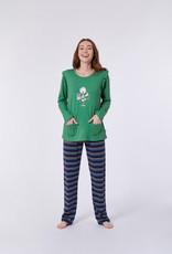 Woody Meisjes-Dames pyjama, groen