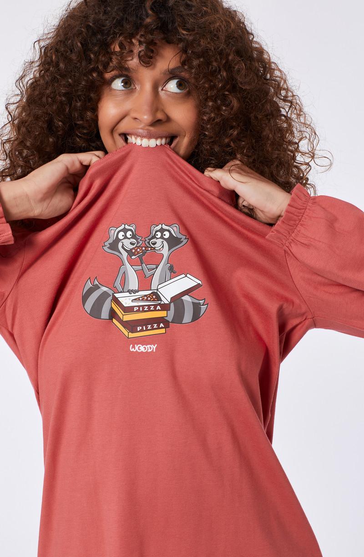 Woody Meisjes-Dames pyjama, roze