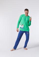 Woody Jongens-Heren pyjama, fel groen