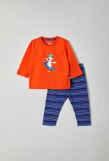 Unisex pyjama, oranjerood