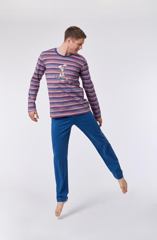 Woody Unisex pyjama, multicolor gestreept